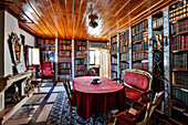The library in the Quinta Plansel vineyard, Alentejo, Portugal