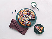 Blueberry babka, sliced