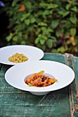 Rabbit cassoulet with couscous