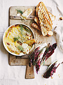 Warm fennel and thyme brie dip