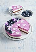 Blueberry unbaked cake