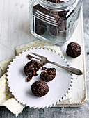 Choc honey bliss balls