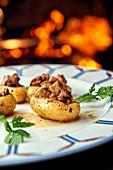 Stuffed potatoes with foie gras