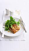 Peri peri fish with herb salad