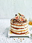 Honey and fig tiramisu cake
