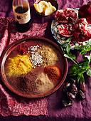 Gewürze und Zutaten für marokkanische Gerichte