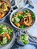 Cauliflower and chicken yoghurt tandoori rice