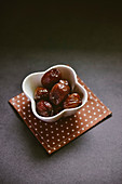 Dried candied jujube ready to eat after steaming