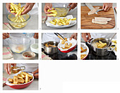 Preparing fish fingers with home fries
