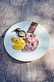 Kidneys in a purple mustard sauce