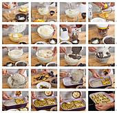 Baking plum pie with poppy seeds