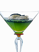 Verrine with an oyster and caviar jelly