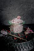 Rose salt with pink peppercorns