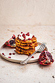 Gluten free latkes with pomegranate