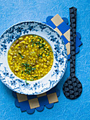 Sourth-African corn soup with curry