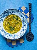 Südafrikanische Maissuppe mit Curry