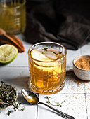 Pear and honey cocktail