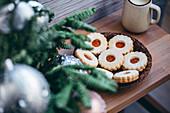 Linzer Plätzchen (weihnachtlich)