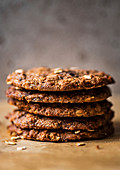 Oatmeal, peanut butter and chocolate cookies