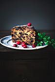 British Christmas fruitcake