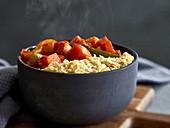 Vegetable ragout with sweet potatoes and kohlrabi