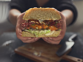 A stuffed jalapeno burger