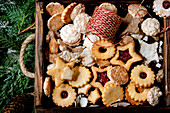 Christmas homemade shortbread biscuits cookies collection