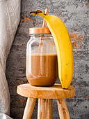 Banana and chocolate milkshake