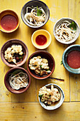 Cauliflower, roasted ginger marinade and udon noodles