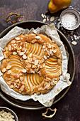 Gluten free Vegan Almond Pear Cake