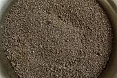 Freshly ground poppy seeds