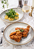 Viennese schnitzel with potato salad