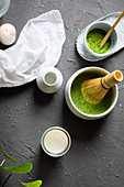 Matcha tea preparation