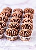 Schoko-Bananen-Mini-Cupcakes