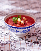 Beetroot gazpacho with apple
