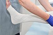 Dressing leg ulcer