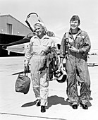 Jackie Cochran and Chuck Yeager, US aviators