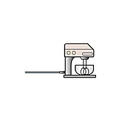 Food mixer, illustration