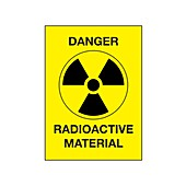 Radiation warning sign, illustration