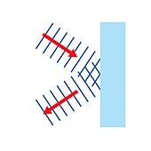 Reflection of plane waves, illustration