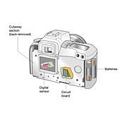 Digital camera with inverted image, illustration