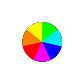 Colour wheel, illustration