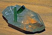 Tourmaline on quartz