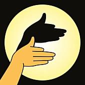 Hand shadow, illustration
