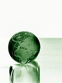 Green planet, conceptual image