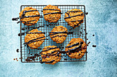 Anazac Biscuits with Chocolate Ganache Drizzle