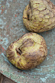 Two custard apple fruit
