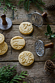 Christmas cookies with stamp