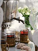 Samovar with tea