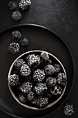 Frozen Blackberries and Blueberries